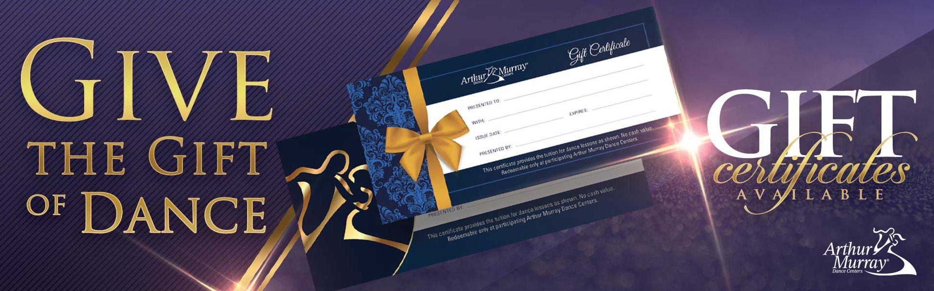 Arthur Murray Weymouth Gift Certificates
